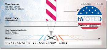 Patriotic Button Personal Checks