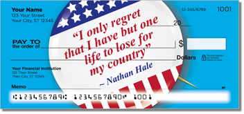 Patriotic Button Checks