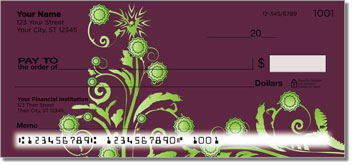 Swirl Flower Personal Checks