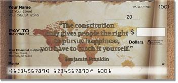 Patriotic Quote Personal Checks