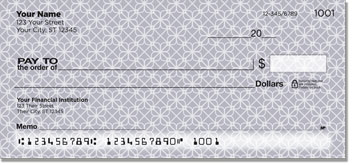 Geometric Pattern Personal Checks