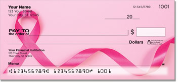 Pink Ribbon Personal Checks