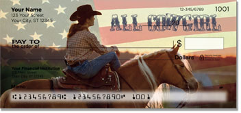 Rodeo Cowgirl Personal Checks