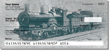 Vintage Train Personal Checks
