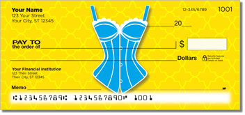 Cute Corset Personal Checks