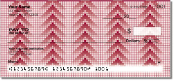Pixel Pattern Personal Checks