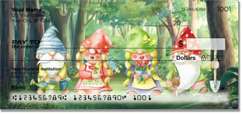 Garden Gnome Personal Checks