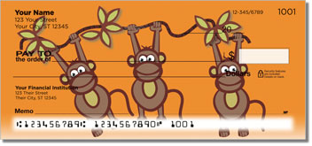 Funky Monkey Personal Checks