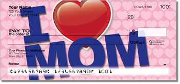 I Love Mom Personal Checks