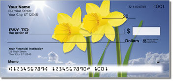 Simple Flower Personal Checks