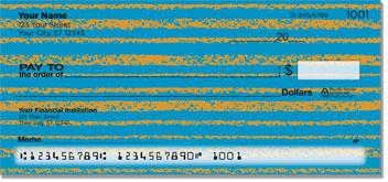 Horizontal Stripe Personal Checks
