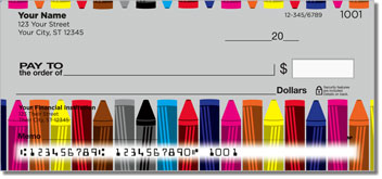 Cute Crayon Personal Checks