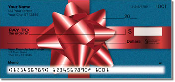 Christmas Bow Personal Checks