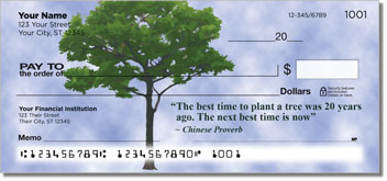 Arbor Day Quote Checks