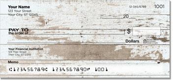 Distressed Wood Personal Checks
