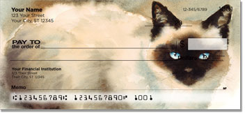 Siamese Cat Personal Checks