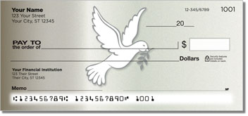 Symbols of Peace Personal Checks