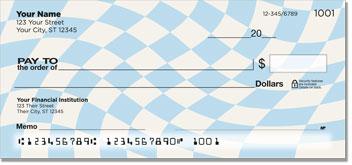 Checkerboard Pattern Personal Checks