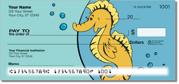 Silly Seahorse Personal Checks