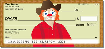 Rodeo Clown Personal Checks