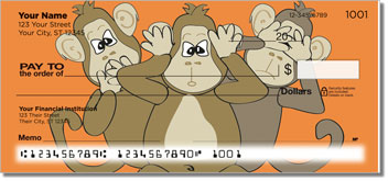 No Evil Monkey Personal Checks
