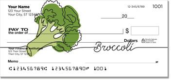 Green Veggie Personal Checks