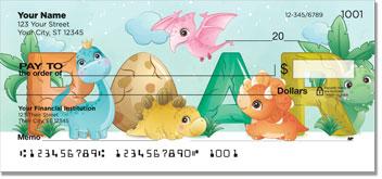 Cute Dino Personal Checks