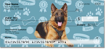 German Shepherd Scrapbook Art Checks