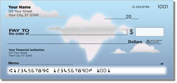 Cloud Shape Personal Checks