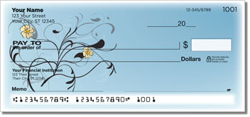 Pretty Pansy Personal Checks