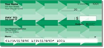 Monochrome Arrow Personal Checks