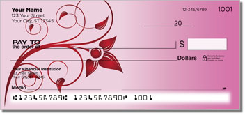 Swirling Vine Personal Checks