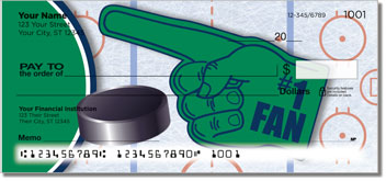 Green & Blue Hockey Checks