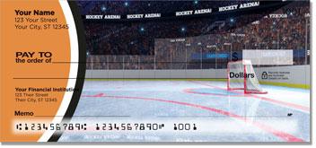 Orange & Black Hockey Checks