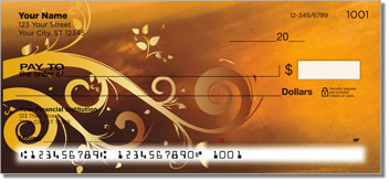 Grungy Scroll Personal Checks