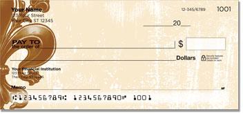 Iron Fleur de Lis Personal Checks