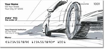 Car Sketch Personal Checks