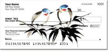 Japanese Bird Art Checks