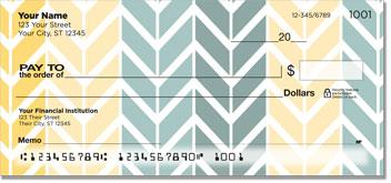 Arrow Pattern Personal Checks