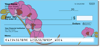 Orchid Print Personal Checks