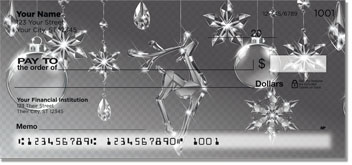 Christmas Snowflake Personal Checks