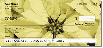 Poinsettia Personal Checks