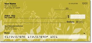 Rustic Flower Personal Checks