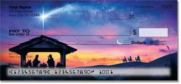 Nativity Scene Personal Checks