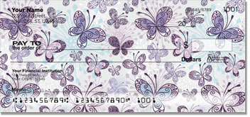 Butterfly Scroll Personal Checks