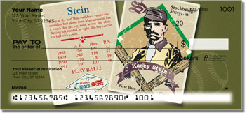 Vintage Baseball Card Personal Checks