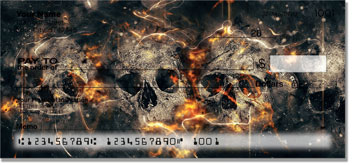 Scary Skull Personal Checks