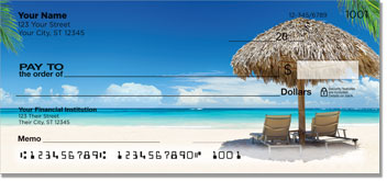 Tropical Beach Personal Checks