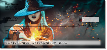 Halloween Witch Personal Checks