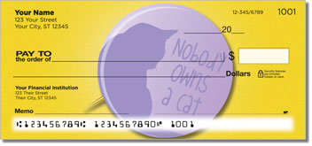 Cat Pride Personal Checks